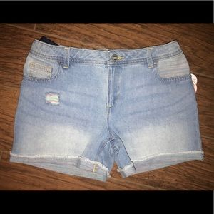 Brand new blue Denim shorts size 12 plus